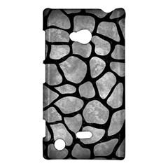 Skin1 Black Marble & Gray Metal 2 Nokia Lumia 720