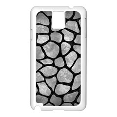 Skin1 Black Marble & Gray Metal 2 Samsung Galaxy Note 3 N9005 Case (white)