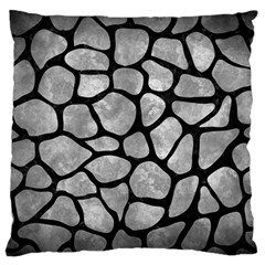 Skin1 Black Marble & Gray Metal 2 Large Flano Cushion Case (two Sides)