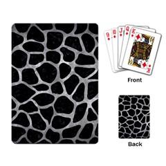 Skin1 Black Marble & Gray Metal 2 (r) Playing Card