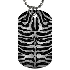 Skin2 Black Marble & Gray Metal 2 Dog Tag (two Sides)