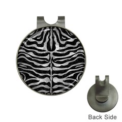 Skin2 Black Marble & Gray Metal 2 Hat Clips With Golf Markers