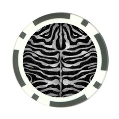 Skin2 Black Marble & Gray Metal 2 Poker Chip Card Guard