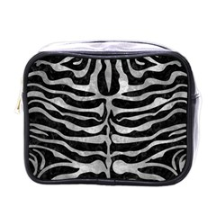 Skin2 Black Marble & Gray Metal 2 Mini Toiletries Bags