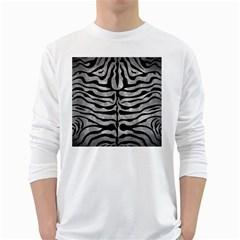 Skin2 Black Marble & Gray Metal 2 (r) White Long Sleeve T Shirts