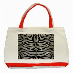 Skin2 Black Marble & Gray Metal 2 (r) Classic Tote Bag (red)