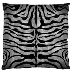 Skin2 Black Marble & Gray Metal 2 (r) Large Flano Cushion Case (one Side)