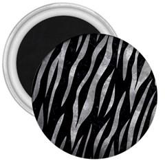 Skin3 Black Marble & Gray Metal 2 3  Magnets