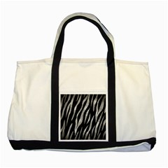 Skin3 Black Marble & Gray Metal 2 Two Tone Tote Bag