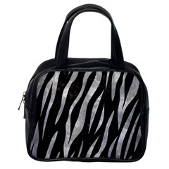Skin3 Black Marble & Gray Metal 2 Classic Handbags (one Side)
