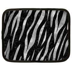 Skin3 Black Marble & Gray Metal 2 Netbook Case (xxl)