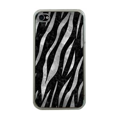 Skin3 Black Marble & Gray Metal 2 Apple Iphone 4 Case (clear)