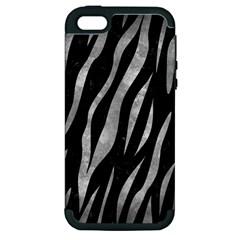 Skin3 Black Marble & Gray Metal 2 Apple Iphone 5 Hardshell Case (pc+silicone)