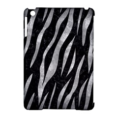 Skin3 Black Marble & Gray Metal 2 Apple Ipad Mini Hardshell Case (compatible With Smart Cover)