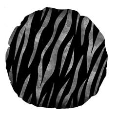 Skin3 Black Marble & Gray Metal 2 Large 18  Premium Round Cushions