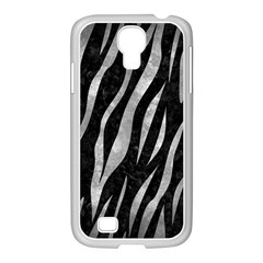 Skin3 Black Marble & Gray Metal 2 Samsung Galaxy S4 I9500/ I9505 Case (white)