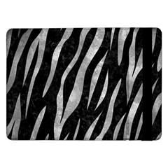 Skin3 Black Marble & Gray Metal 2 Samsung Galaxy Tab Pro 12 2  Flip Case