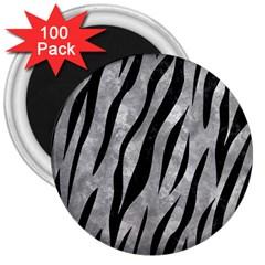 Skin3 Black Marble & Gray Metal 2 (r) 3  Magnets (100 Pack)
