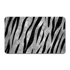 Skin3 Black Marble & Gray Metal 2 (r) Magnet (rectangular)