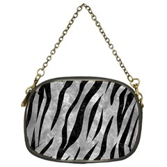 Skin3 Black Marble & Gray Metal 2 (r) Chain Purses (one Side)