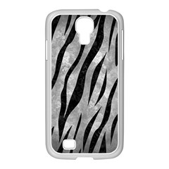 Skin3 Black Marble & Gray Metal 2 (r) Samsung Galaxy S4 I9500/ I9505 Case (white)