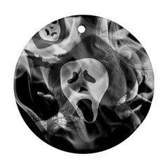 Creepy Halloween Round Ornament (two Sides)