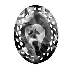 Creepy Halloween Ornament (oval Filigree)