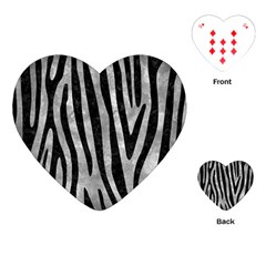 Skin4 Black Marble & Gray Metal 2 Playing Cards (heart)