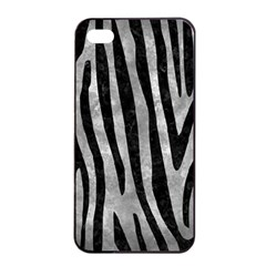 Skin4 Black Marble & Gray Metal 2 Apple Iphone 4/4s Seamless Case (black)