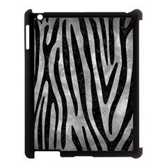 Skin4 Black Marble & Gray Metal 2 Apple Ipad 3/4 Case (black)