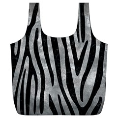 Skin4 Black Marble & Gray Metal 2 Full Print Recycle Bags (l)