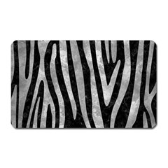 Skin4 Black Marble & Gray Metal 2 (r) Magnet (rectangular)