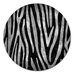 Skin4 Black Marble & Gray Metal 2 (r) Magnet 5  (round)