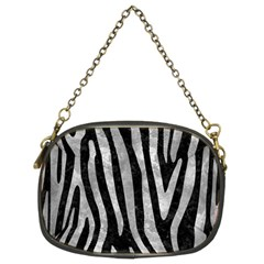 Skin4 Black Marble & Gray Metal 2 (r) Chain Purses (two Sides)
