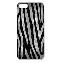 Skin4 Black Marble & Gray Metal 2 (r) Apple Seamless Iphone 5 Case (clear)