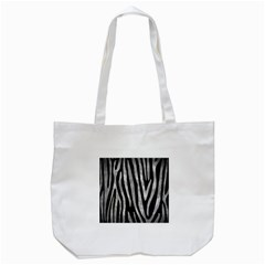 Skin4 Black Marble & Gray Metal 2 (r) Tote Bag (white)
