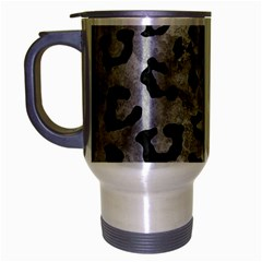 Skin5 Black Marble & Gray Metal 2 Travel Mug (silver Gray)