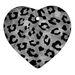 Skin5 Black Marble & Gray Metal 2 Heart Ornament (two Sides)