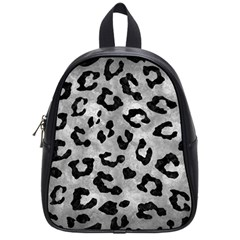 Skin5 Black Marble & Gray Metal 2 School Bag (small)