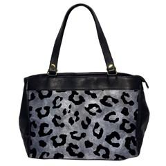 Skin5 Black Marble & Gray Metal 2 Office Handbags