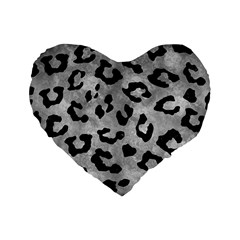 Skin5 Black Marble & Gray Metal 2 Standard 16  Premium Heart Shape Cushions