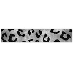 Skin5 Black Marble & Gray Metal 2 Flano Scarf (large)