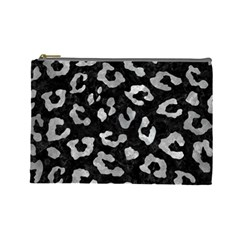 Skin5 Black Marble & Gray Metal 2 (r) Cosmetic Bag (large)