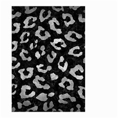 Skin5 Black Marble & Gray Metal 2 (r) Small Garden Flag (two Sides)