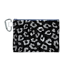 Skin5 Black Marble & Gray Metal 2 (r) Canvas Cosmetic Bag (m)