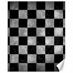Square1 Black Marble & Gray Metal 2 Canvas 16  X 20