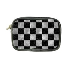 Square1 Black Marble & Gray Metal 2 Coin Purse