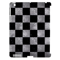 Square1 Black Marble & Gray Metal 2 Apple Ipad 3/4 Hardshell Case (compatible With Smart Cover)