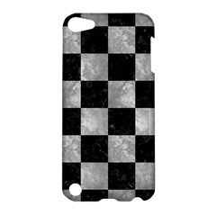 Square1 Black Marble & Gray Metal 2 Apple Ipod Touch 5 Hardshell Case
