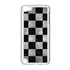 Square1 Black Marble & Gray Metal 2 Apple Ipod Touch 5 Case (white)